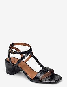 Sandals 2930 - sling backs - black monterrey croco 20