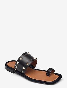 Sandals 2953 - flat sandals - black calf 80