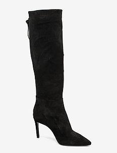 Long Boots 3363 - BLACK BABYSILK SUEDE 500