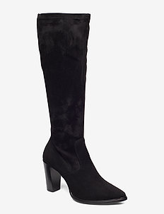 Long Boots 3396 - langskaftede - black suede/black stretch 500