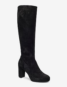 Long Boots 3444 (Black Babysilk Suede 500) (1679.40 kr