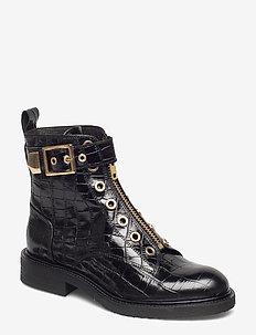 Boots 3523 - BLACK CROCO/GOLD 402 X