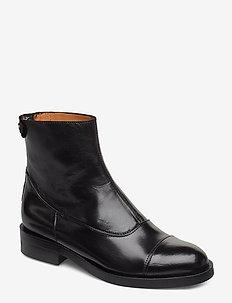 Boots 3542 - platte enkellaarsjes - black baby buffalo 603
