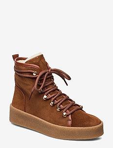 Warm lining 3603 - flat ankle boots - cognac 1614 babysilk 585