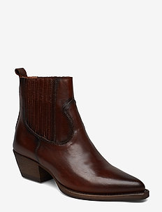 Boots 3610 - heeled ankle boots - old iron cognac 86