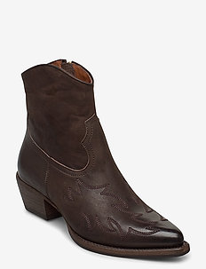 Boots 3611 - ankle boots with heel - brown varese 96