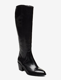 Long Boots 3632 - langskaftede - black baby buffalo 600
