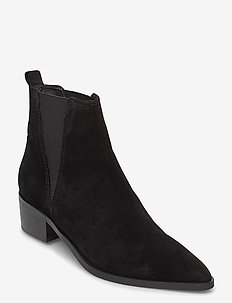 Boots 3691 - ankle boots with heel - black babysilk suede 500