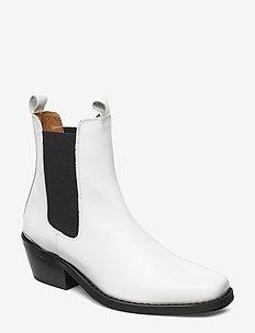 Booties 3696 - talon haut - white polido 93