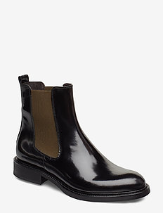 Boots 37952 - chelsea boots - black polido/army elast 907