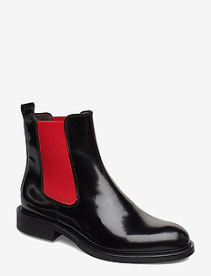 Boots 37952 - bottes chelsea - black polido/red elast 909