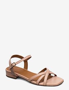 Sandals 4025 - platte sandalen - rose 3624 nappa 78