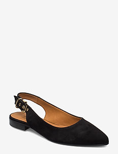 Sandals 4025 - ballerinas - black suede 50