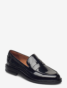 Shoes 4110 - loafers - black polido 90