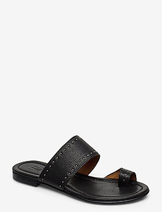 Sandals 4131 - flache sandalen - black buffalo/silver 803