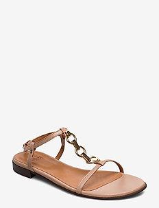 Sandals 4141 - platta sandaler - camel nappa 74