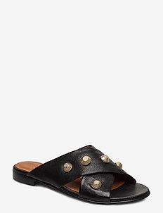 Sandals 4143 - BLACK BUFFALO/GOLD 802