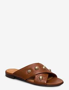 Sandals 4143 - COGNAC BUFFALO/GOLD 852