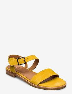 Sandals 4150 - płaskie sandały - yellow 1795 suede 556