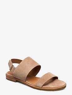 Sandals 4151 - flache sandalen - beige babysilk suede 552
