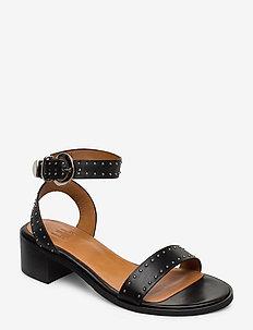 Sandals 4181 - heeled sandals - black calf 80