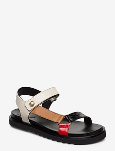 Sandals 4192 - flat sandals - black/brown/latte comb. 132