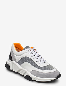 Sport 4260 - chunky sneakers - grey/white/orange comb.537