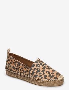 Espadrilles 4301 - flade espadrillos - leopardo suede 542