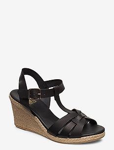 Espadrilles 4322 - heeled espadrilles - black vaqueta 20