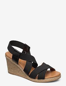 Espadrilles 4324 - heeled espadrilles - black elast. 40