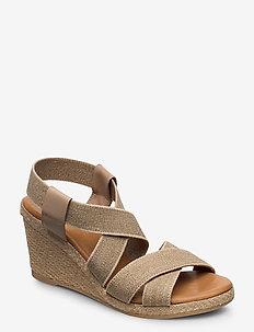 Espadrilles 4324 - heeled espadrilles - sand eco elast. 42