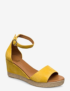 Espadrilles 4332 - espadrilles med hæl - yellow 1795 suede 56