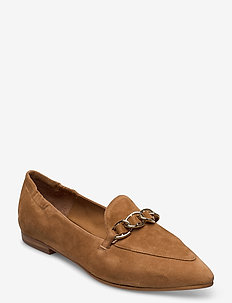 Shoes 4503 - loafers - cognac suede 55