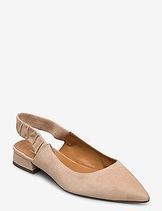 Shoes 4512 - sling backs - camel suede 54