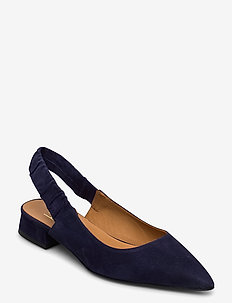 Shoes 4512 - obcasy typu slingback - navy suede 51
