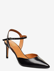 Pumps 4595 - sling backs - black calf 80
