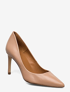 Pumps 4597 - klassiske pumps - dark beige 5845 nappa 78