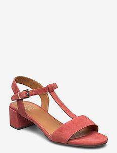 Sandals 4606 - høyhælte sandaler - rust aragosta suede 598