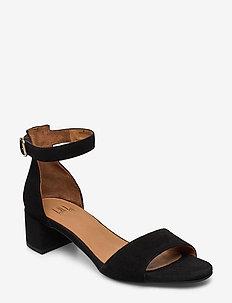 Sandals 4607 - højhælede sandaler - black suede 50