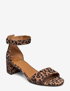 Sandals 4607 - højhælede sandaler - leopardo suede 542