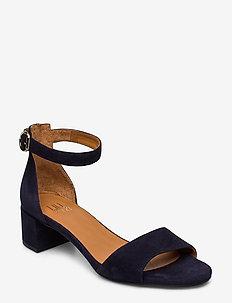 Sandals 4607 - sandały na obcasie - navy suede 51