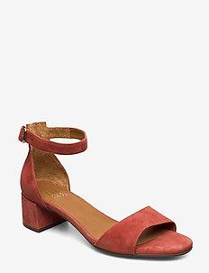 Sandals 4607 - højhælede sandaler - rust aragosta suede 598