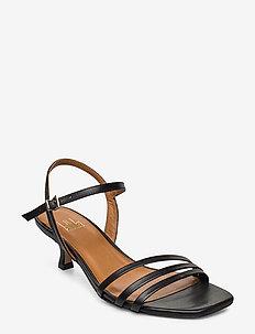 Sandals 4617 - sandalen mit absatz - black calf 80