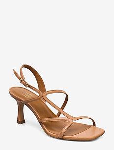 Sandals 4622 - højhælede sandaler - latte nappa 72
