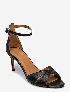 Sandals 4628 - højhælede sandaler - black metallic 000