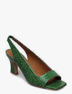Sandals 4636 - szpilki peep toe - paraiso green yango 16