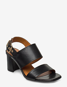 Sandals 4645 - højhælede sandaler - black calf 80