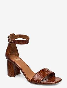 Sandals 4647 - høyhælte sandaler - cognac monterey croco 25