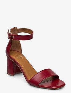Sandals 4647 - højhælede sandaler - red calf 89