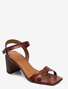 Sandals 4656 - sandały na obcasie - cognac yango 15